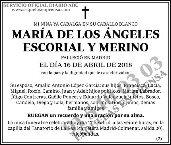 María de los Ángeles Escorial y Merino